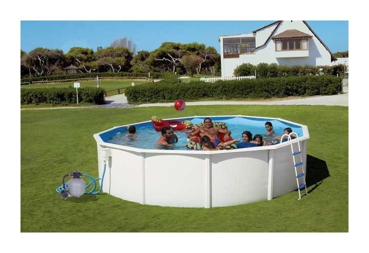 Piscina desmontable redonda modelo canarias 230x120 8885 - Liner piscina redonda ...