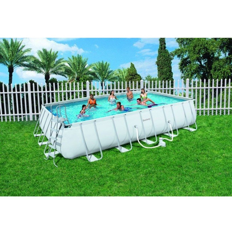 Piscina tubular 671x366x132cm rectangular frame pools for Piscina tubular rectangular