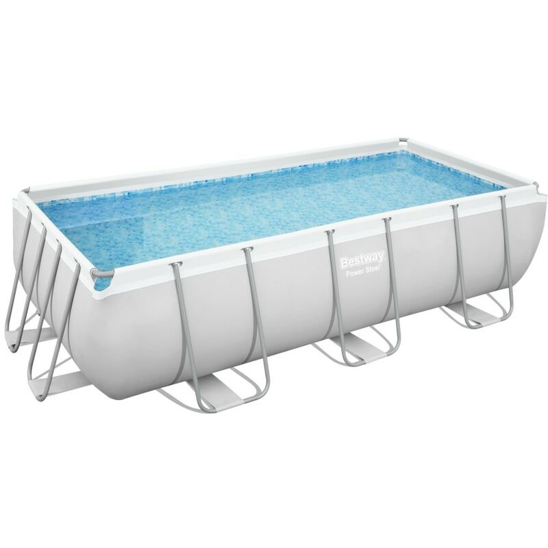 Piscina tubular 404x201x100cm rectangular frame pool for Piscina tubular rectangular