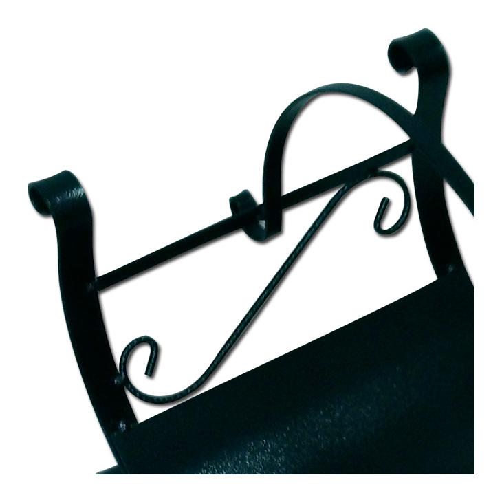 Portalegna in ferro battuto per camino 43x38x47 giardino - Portalegna in ferro battuto ...