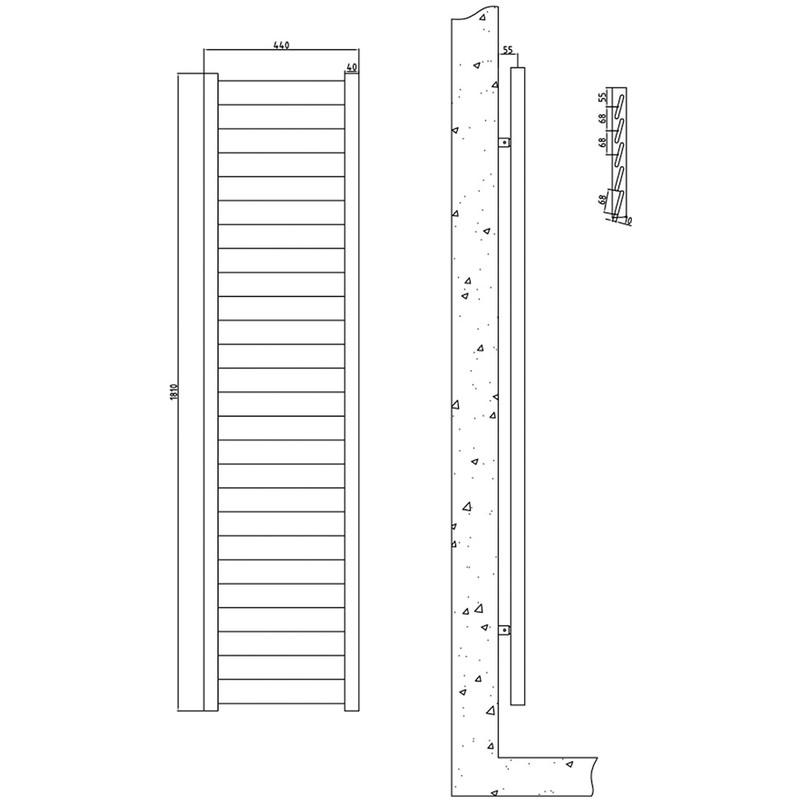 Radiador toallero para ba o acero paneles en blanco - Paneles para banos ...