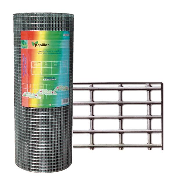 Rete metallica zincata recinzione per animali Mt 1x10 Papillon - Giardino, piscina