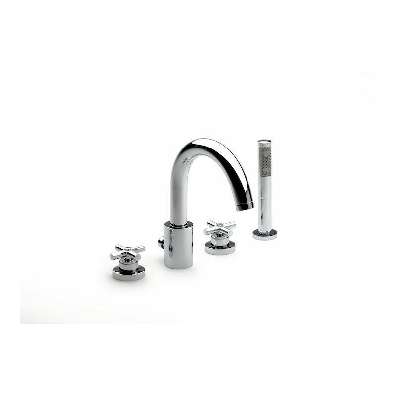 Baños Con Ducha Roca:Roca – Mezclador de repisa baño-ducha con caño central alto con