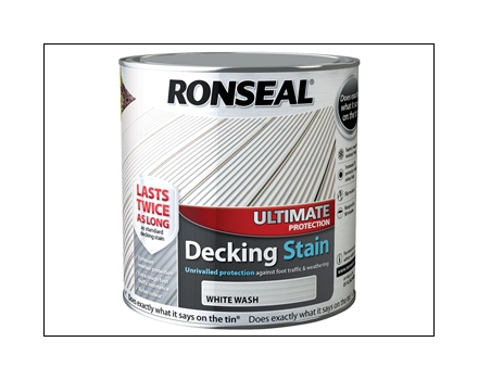 Ultimate Protection Decking Stain White Wash 2 5 Litre 36910 Flooring Painting And Decorating