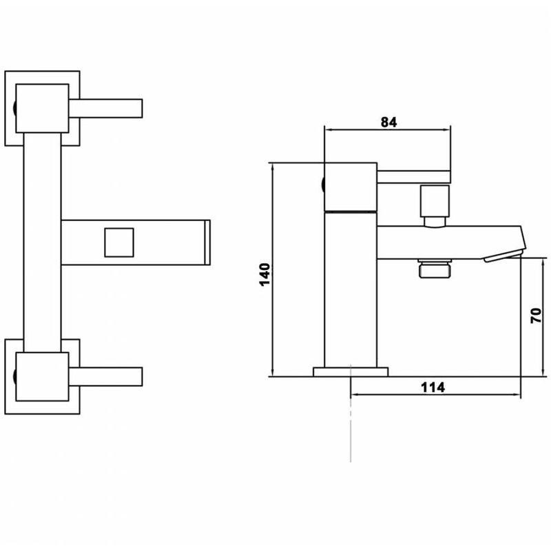 Rubinetto miscelatore bordo vasca in ottone cromato con doccetta serie l lty344 idraulica - Bordo vasca da bagno ...