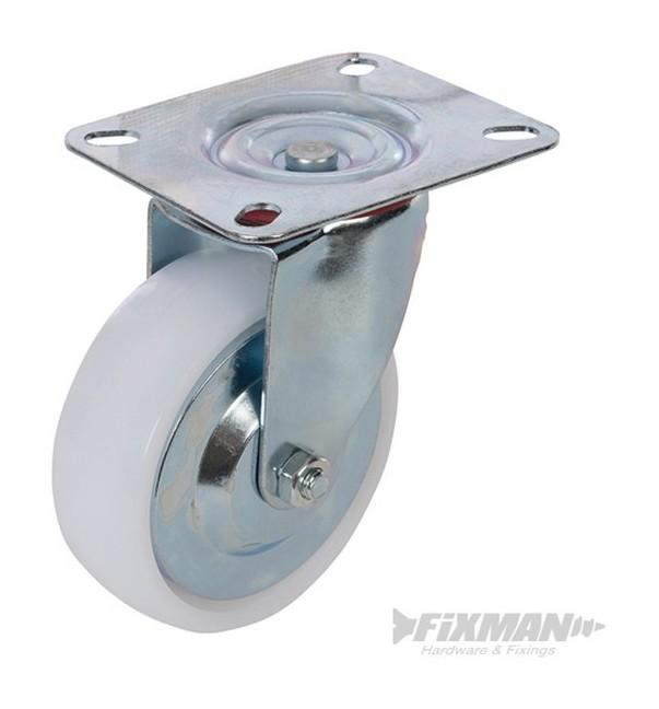 Rueda giratoria de polipropileno 100 mm 125 kg 324696 - Ruedas giratorias para muebles ...