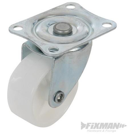 Rueda giratoria de polipropileno 50 mm 50 kg 244237 - Ruedas giratorias para muebles ...