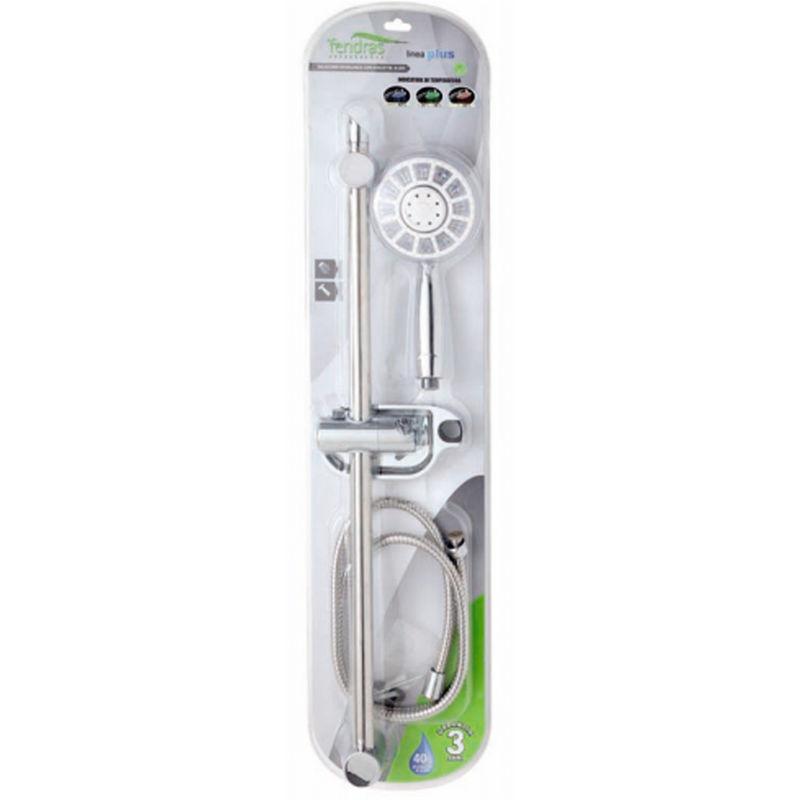 Saliscendi con doccetta a led colorati asta regolabile accessori doccia 017083 idraulica - Doccia con led colorati ...