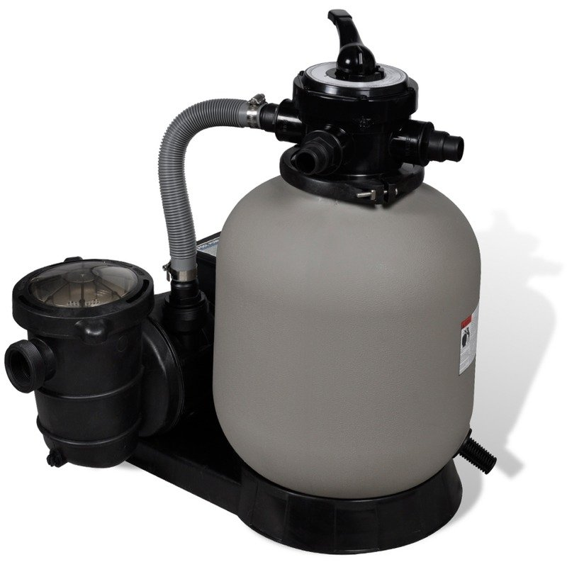 Sand filter with pool pump 35 cm garden swimming pool for Garden pool pumps and filters