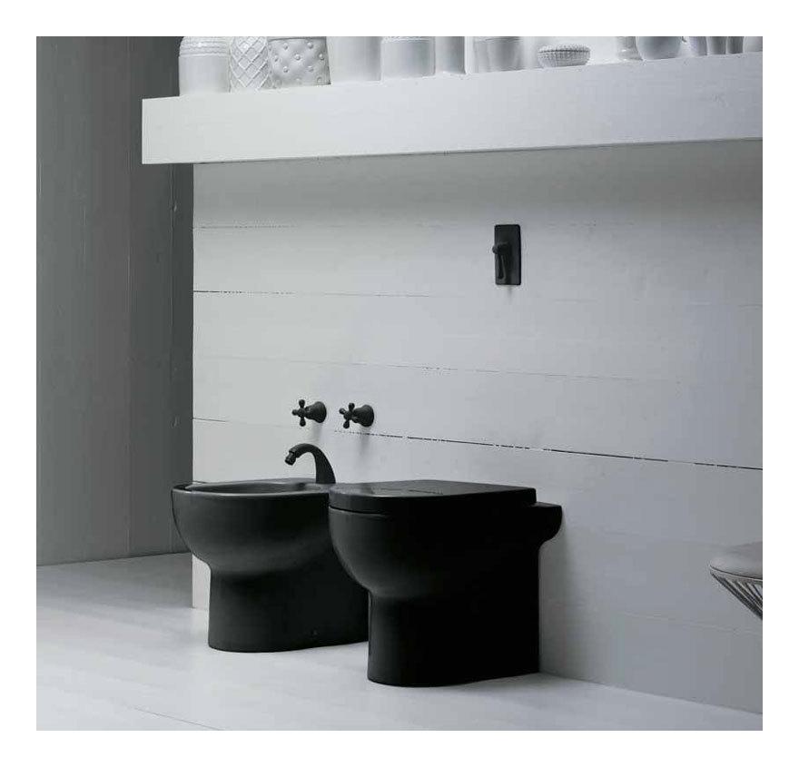 Sanitari bagno colore nero nuvola nuv 500n nuv 100n p - Riscaldamento per bagno ...