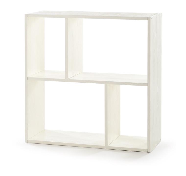 Scaffale libreria mobile da ufficio in legno massello for Scaffale legno bianco
