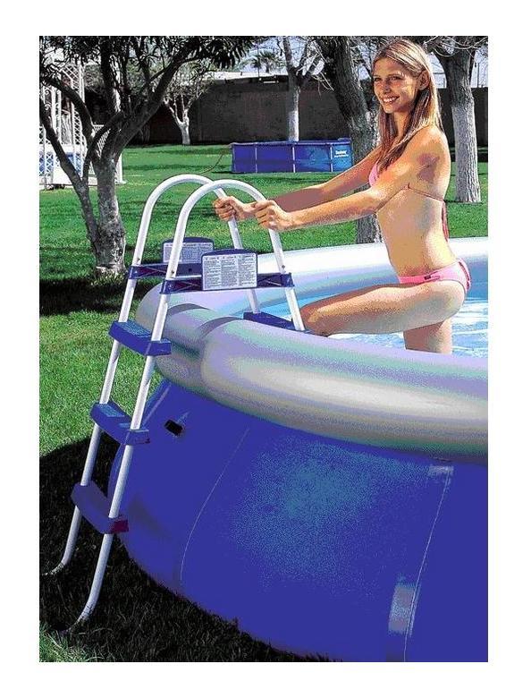 Scaletta per piscina 3 gradini altezza 107cm senza - Gradini per piscine ...