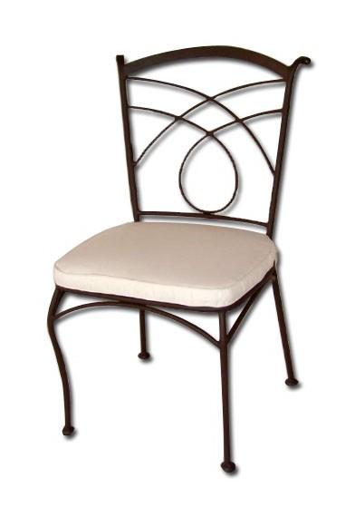 Sedia giardino in ferro con cuscino per esterno colore - Cuscino per sedia viola ...