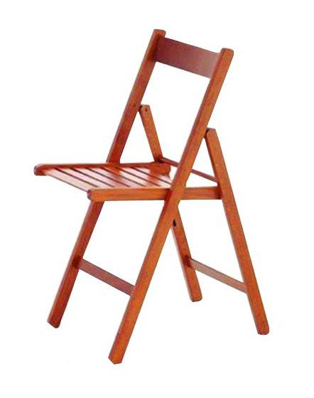 Sedia pieghevole legno ciliegio confezione 4 pz p18154 - Ciliegio da giardino ...
