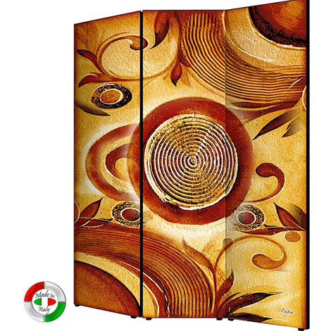 Separe in legno divisorio in tela paravento a 3 pannelli moderno ...