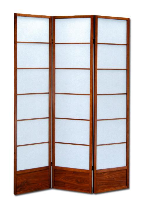 Separe in legno paraventodi design colore noce 3 pannelli - P26847 ...