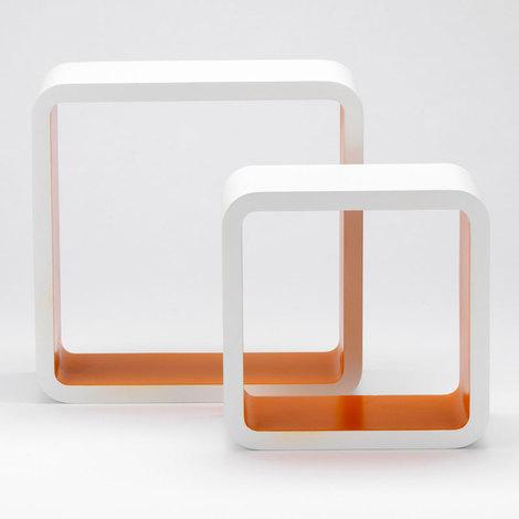 Set 2pz mensole design moderno arredo camera cameretta salone bar ...