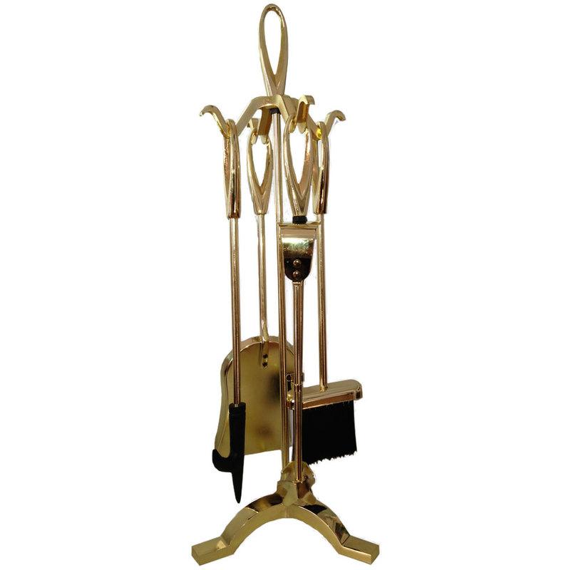 Set 4 accessori attrezzi per camino caminetto h70 cm for Attrezzi per piscina