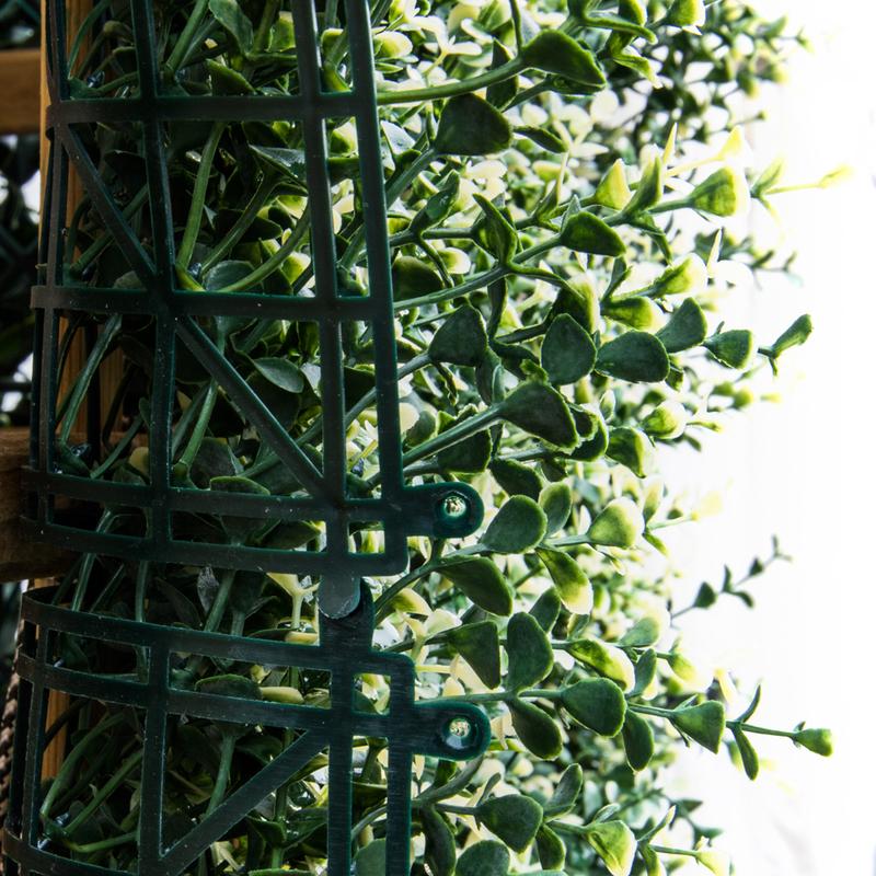 Siepe finta bosso 1mq sempreverde artificiale rete for Giardino artificiale