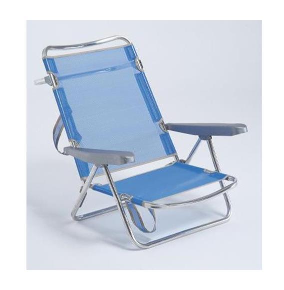 Silla cama aluminio fibreline c 30 607alf jardines y for Rebajas mobiliario jardin