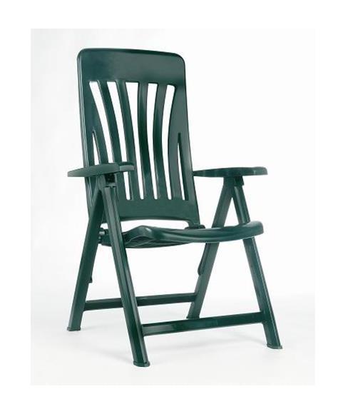 Sillon 5 posiciones verde blanes jardines y piscinas for Rebajas mobiliario jardin