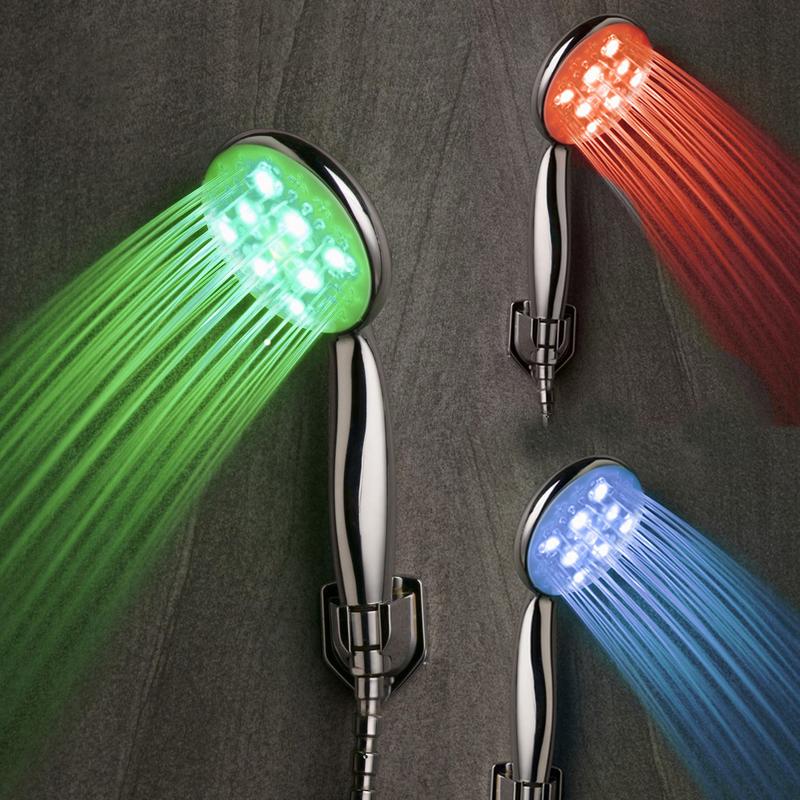 Soffione doccia luminoso doccetta multicolore 25 led - Doccia led cromoterapia ...