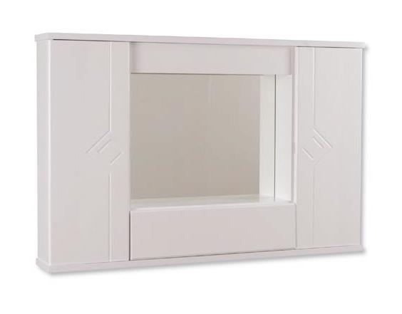 Specchiera bagno in laminato doppia anta bianco 9611 bagno - Laminato in bagno ...