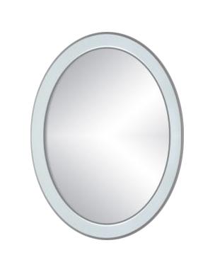 Specchio ovale bianco l60xp2xh80 cm bagno - Specchio ovale per bagno ...