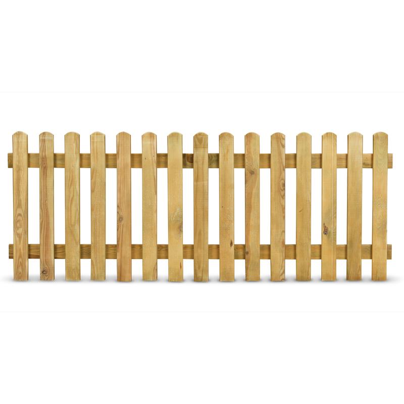 Steccato tavoletta preassemblato 180 cm x altezza 100 - Recinzione piscina legno ...