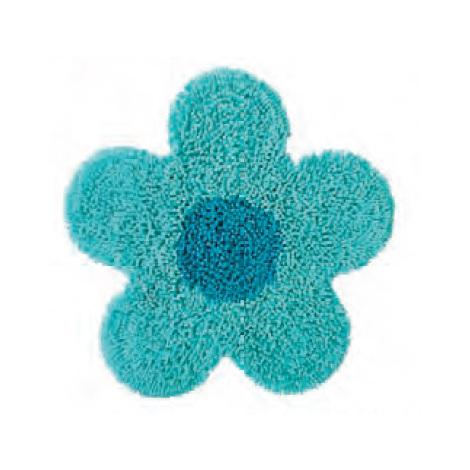 Tappeto bagno Azzurro-Turchese Fiore - 3FTA069210 - Bagno