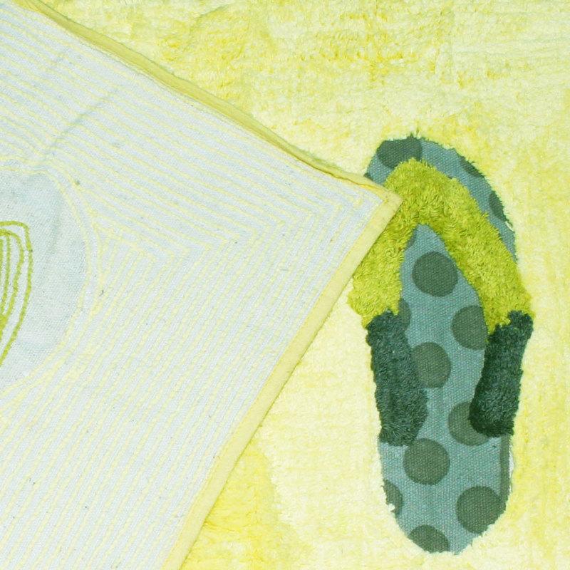 Tappeto tappetino 75x45cm da bagno cotone verde ...