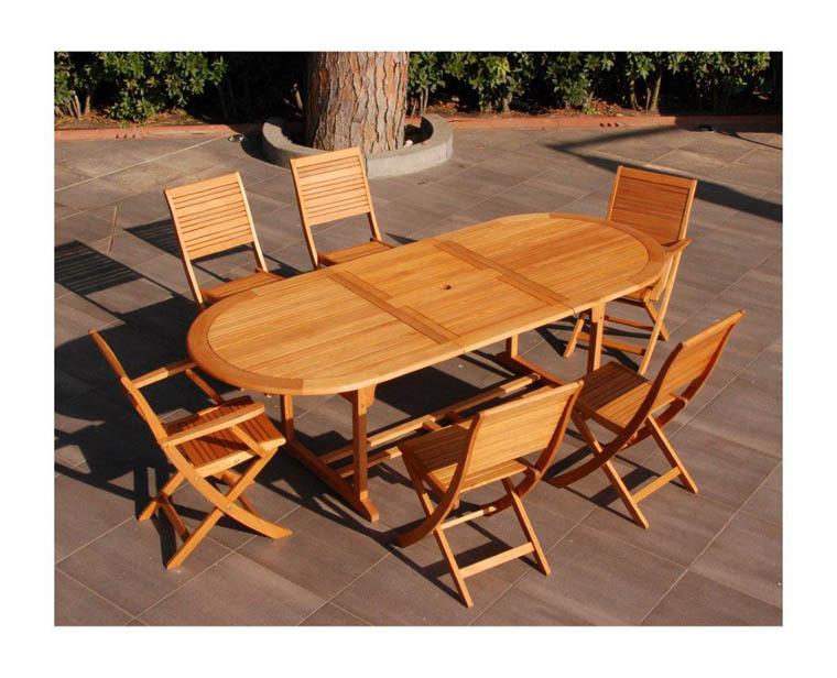 Tavolo da pranzo allungabile ovale in legno di eucalypto for Tavolo da pranzo ovale allungabile