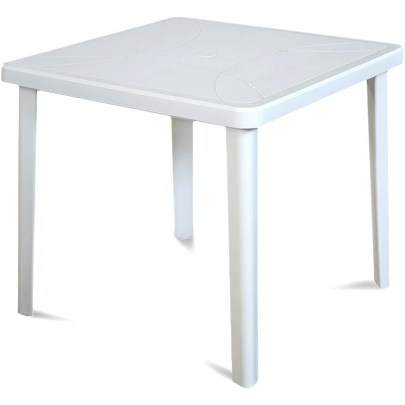 Tavolo Esterno Resina L80xp80xh72cm Bianco Nettuno