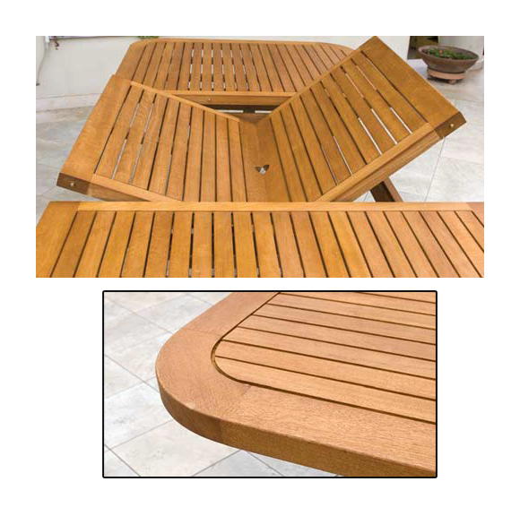 Tavolo in legno massello da giardino estensibile 100x180 - Tavolo in legno da giardino ...