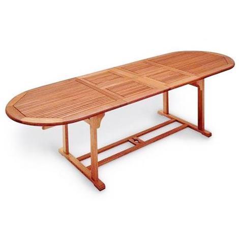 Tavolo per esterno giardino in legno allungabile cm 200 for Tavolo in legno per esterno