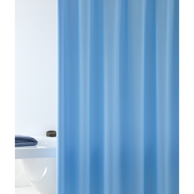 Tenda doccia cm 180 x altezza cm 200 celeste 019983 bagno - Tende da doccia ...