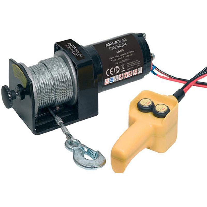 Verricello tiro sollevatore elettrico 12v portata 906 kg - Portata cavo elettrico ...