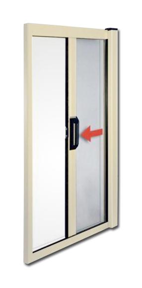 Zanzariera in alluminio a molla per porte e finestre 160x250 ferramenta - Porte e finestre in alluminio ...