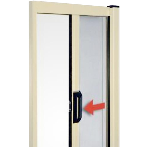 Zanzariera in alluminio a molla per porte e finestre for Zanzariere su misura leroy merlin