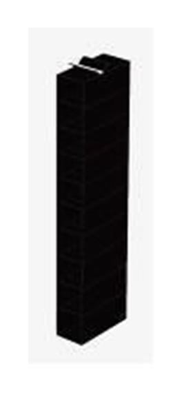 Zapatero colgador negro 15x30x120 cm ferreter a for Zapatero tela colgar